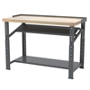 Heavy-Duty Work Bench, 30x72 Adjust Ht, Gray