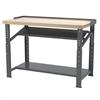 Akro-Mils Heavy-Duty Work Bench, 30x72 Adjust Ht, Gray