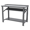 Akro-Mils Heavy-Duty Work Bench, 30x72 Adjust Ht, Gray