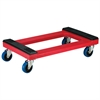 Akro-Mils Plastic Dolly, Padded, Red