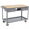 Akro-Mils Medium Duty Mobile Work Table, 24x48, Gray