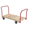 Plat Truck, Wood, 2 Open Handles, Red