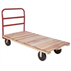 Plat Truck, Wood, 1 Crossbar Handle, Red
