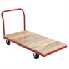Akro-Mils Plat Truck, Wood/Steel, Red