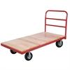 Akro-Mils Plat Truck, Wood/Steel, Crossbar Handle, Red