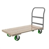 Plat Truck, Wood Unassembled, Crossbar, Natural/Gray