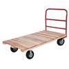 Plat Truck, Wood, 1 Crossbar Handle, Red
