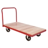 Akro-Mils Plat Truck, Wood/Steel, Red