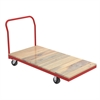 Plat Truck, Wood/Steel, Red