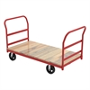 Akro-Mils Plat Truck, Wood, 2 Crossbar Handles, Red