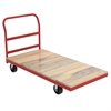 Akro-Mils Plat Truck, Wood/Steel, Crossbar Handle, Red