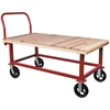 HD Work Height Platform Truck, Wood, Red