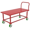 HD Adj Work Height Platform Truck, Red