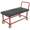 HD Adj Work Ht Platform Truck,, Red