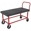 Akro-Mils HD Adj Work Ht Platform Truck, Red