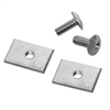 Akro-Mils TiltView Hardware Pk, 1 Set, Chrome, Chrome