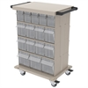 Akro-Mils TiltView Stack Cart 32 Bins, Beige