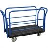 Akro-Mils ULTRA/Deck, Handle L, Polyurethane, 24W, Black Deck/Blue Handle