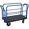 ULTRA/Deck, Handle L, Polyolefin, 24W, Black Deck/Blue Handle