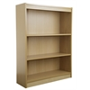 "Contemporary 60""H wood veneer bookcase, Natural Oak"