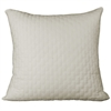 BedVoyage Rayon from Bamboo Quilted Euro Sham in Ivory