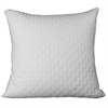Rayon from Bamboo Quilted Euro Sham in White