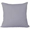 Rayon from Bamboo Quilted Euro Sham in Platinum