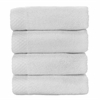 BedVoyage Rayon from Bamboo blend Resort Washcloth (4pk) in White