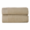 BedVoyage Rayon from Bamboo blend Resort Hand Towel (2pk) in Champagne