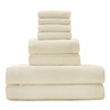 BedVoyage Rayon from Bamboo blend Resort Towel Bundle in Ivory