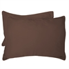 BedVoyage Rayon from Bamboo Standard Shams in Mocha