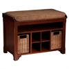 Southern Enterprises Flynn Storage Bench - Espresso