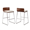 Southern Enterprises Corbin Stools - Walnut/White