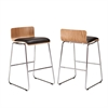 Southern Enterprises Corbin Stools - Natural Birch/Black