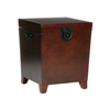 Southern Enterprises Pyramid Trunk End Table - Espresso