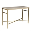 Orinda Faux Stone Console Table - Travertine