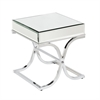 Southern Enterprises Ava Mirrored End Table - Chrome