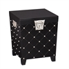 Nailhead End Table Trunk - Black/Satin Silver