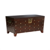 Southern Enterprises Nailhead Cocktail Table Trunk - Espresso