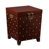 Southern Enterprises Nailhead End Table Trunk - Espresso
