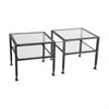 Southern Enterprises Metal/Glass Bunching Cocktail Table