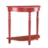 Southern Enterprises Tyra Demilune Table - Red