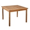 Southern Enterprises Teak Square Dining Table