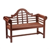 Southern Enterprises Lutyens Hardwood 4' Bench