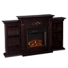 Southern Enterprises Tennyson Electric Fireplace w/ Bookcases - Classic Espresso