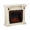 Southern Enterprises Carrington Faux Slate Convertible Electric Fireplace - Ivor