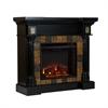Southern Enterprises Carrington Faux Slate Convertible Electric Fireplace - Blac