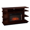 Southern Enterprises Granville Media Electric Fireplace - Espresso/Ebony Stain