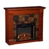 Southern Enterprises Elkmont Electric Fireplace - Mahogany