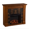 Southern Enterprises Elkmont Electric Fireplace - Salem Antique Oak